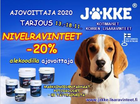 Jakke-mainos Ajovoittaja -20